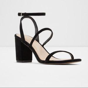 black mid Heels